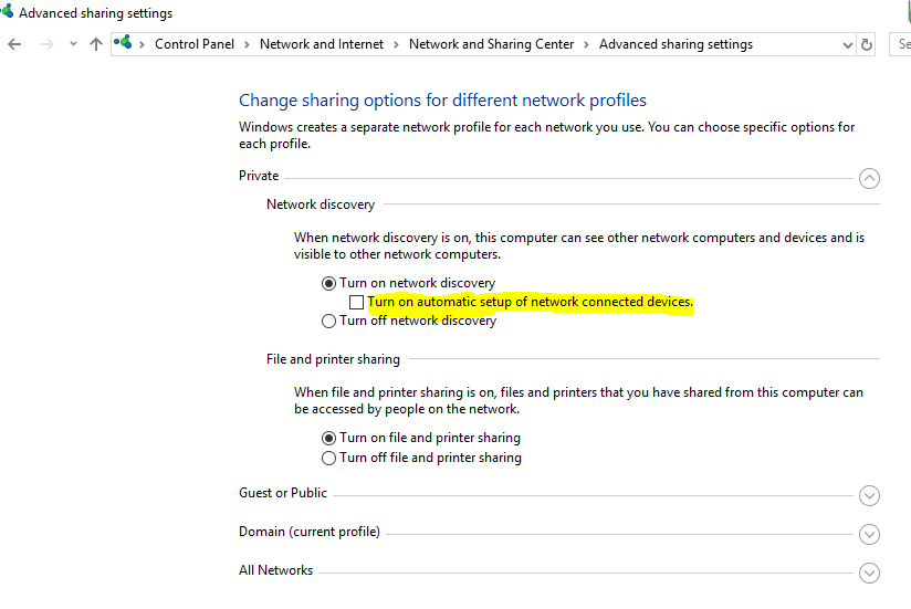 Prevent Windows from Automatically Adding Networked Printers
